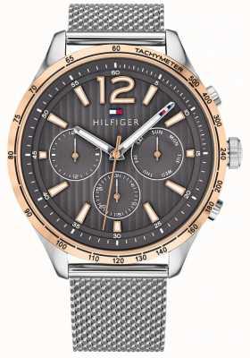 Tommy Hilfiger Brazalete de malla de acero con reloj cronógrafo gavin para hombre 1791466