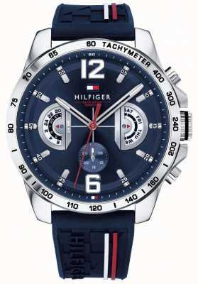 Tommy Hilfiger Reloj de bolsillo para hombre reloj azul correa de caucho azul 1791476