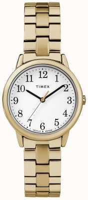 Timex Pulsera para mujer de 31 mm en acero inoxidable con banda de expedición TW2R58900
