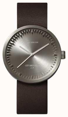 Leff Amsterdam Reloj de tubo d38 caja de acero correa de cuero marrón LT71002