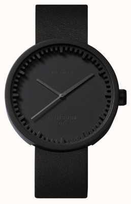 Leff Amsterdam Reloj de tubo d38 black case correa de cuero negro LT71011