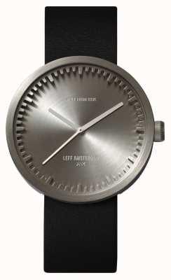 Leff Amsterdam Reloj de tubo d42 caja de acero correa de cuero negro LT72001