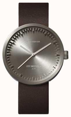 Leff Amsterdam Reloj de tubo d42 caja de acero correa de cuero marrón LT72002
