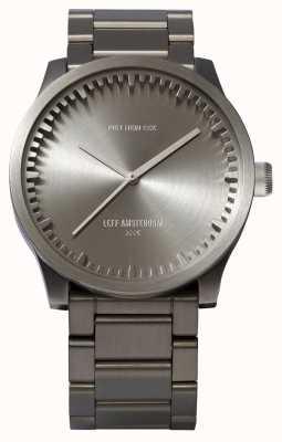 Leff Amsterdam Reloj de tubo s42 caja de acero pulsera de acero LT72101