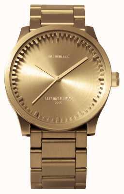 Leff Amsterdam Reloj de tubo s38 latón caja latón pulsera LT71103