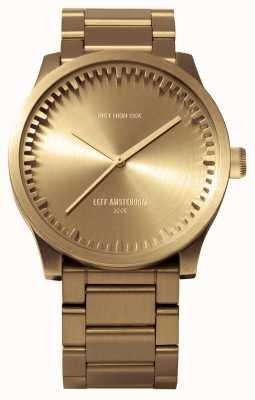 Leff Amsterdam Reloj de tubo s42 caja de latón pulsera de latón LT72103