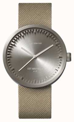 Leff Amsterdam Reloj de tubo d42 caja de acero arena correa de cordura LT72003