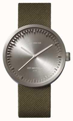 Leff Amsterdam Reloj de tubo d42 caja de acero correa de cordura verde LT72004