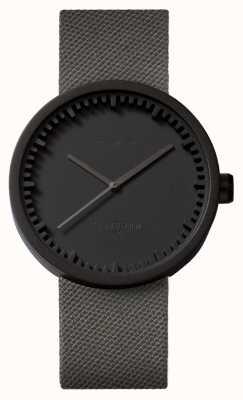 Leff Amsterdam Reloj de tubo d42 caja negra correa de cordura gris LT72015