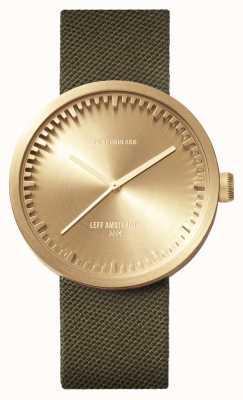 Leff Amsterdam Reloj de tubo d42 caja de latón correa de cordura verde LT72024