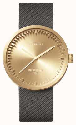 Leff Amsterdam Reloj de tubo d42 caja de latón gris correa de cordura LT72025