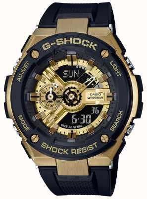 Casio G-shock g-steel negro y dorado GST-400G-1A9ER