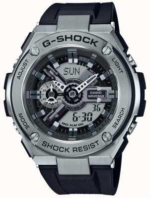Casio Correa de resina negra G-shock g-steel GST-410-1AER