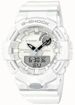 Casio G-shock bluetooth fitness step tracker correa blanca GBA-800-7AER