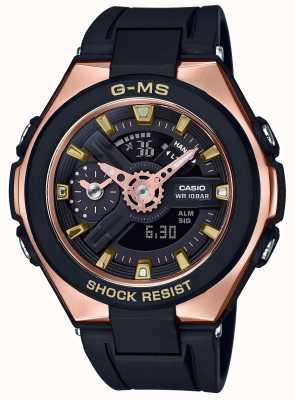 Casio Baby-g g-ms glamorosa alarma de oro cronógrafo MSG-400G-1A1ER