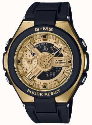 Casio Baby-g g-ms glamorosa alarma de oro cronógrafo MSG-400G-1A2ER