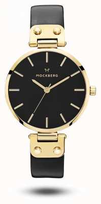 Mockberg Saga black gold pvd caja correa negra esfera negra MO113