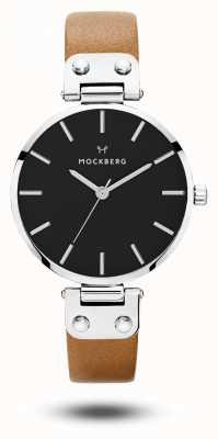 Mockberg Wera negro marrón correa de línea negra MO112