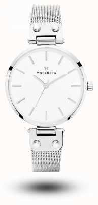 Mockberg Elise acero inoxidable pulsera malla blanca MO1602
