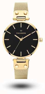Mockberg Livia noir dorado pvd plateado malla negra MO1603