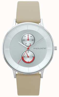 Police Reloj berkeley de cuero marrón claro 15402JS/04