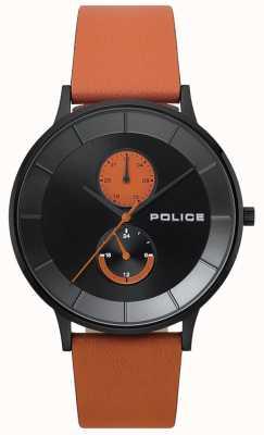Police Reloj berkeley naranja correa de piel 15402JSB/02