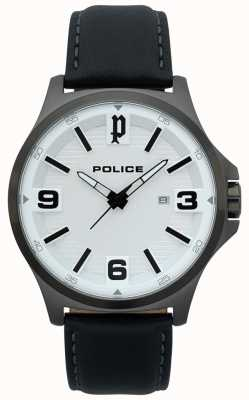 Police Reloj de cuero negro clan para hombre 15384JSU/04