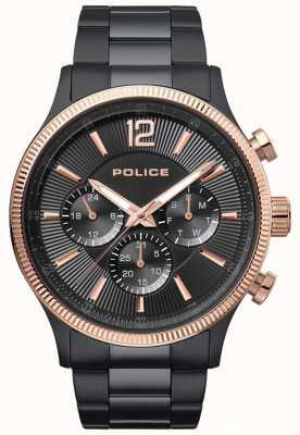 Police Reloj de brazalete de dos tonos para hombre salvaje salvaje 15302JSBR/02M