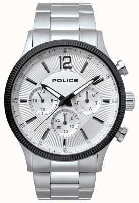 Police Reloj para hombre de acero inoxidable y negro 15302JSTB/01M