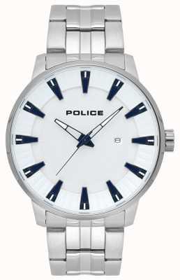 Police Reloj de hombre en acero inoxidable flint blanco 15391JS/04M