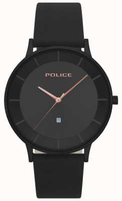 Police Reloj de hombre negro de cuero fontana negro 15400JSB/02