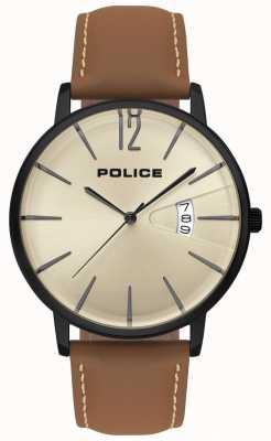 Police Reloj de cuero marrón para hombre 15307JSB/07