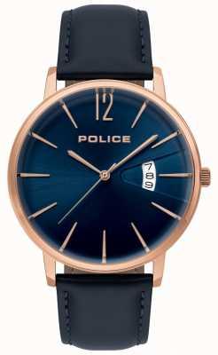 Police Reloj de cuero azul virtud hombres 15307JSR/03