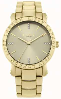 Lipsy Dial de oro para mujer, reloj pulsera de oro LP566