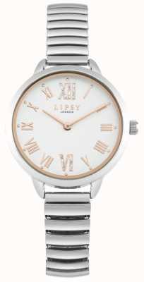 Lipsy Reloj de pulsera de plata expandible para mujer LP578