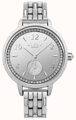 Lipsy Reloj de pulsera de plata para mujer LP564