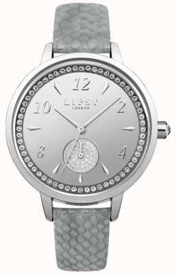 Lipsy Reloj de mujer de correa gris plateado LP581
