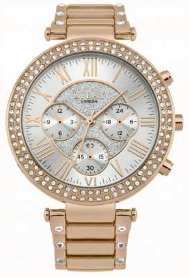 Lipsy Reloj de cronógrafo de mujer de oro rosa LP580