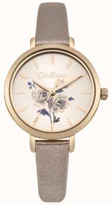Cath Kidston Reloj de pulsera de mujer en piel metalizada color oro rosa. CKL049RG
