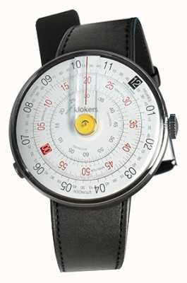 Klokers Klok 01 yellow watch head negro satin single strap KLOK-01-D1+KLINK-01-MC1