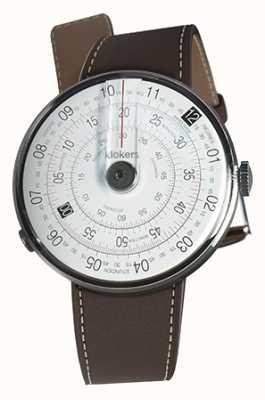 Klokers Klok 01 correa de reloj negro marrón chocolate sola correa KLOK-01-D2+KLINK-01-MC4