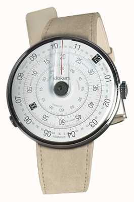 Klokers Klok 01 reloj negro cabeza alcantara gris correa individual KLOK-01-D2+KLINK-01-MC6
