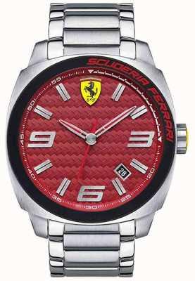 Scuderia Ferrari Aero evo mens acero inoxidable 0830167