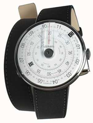 Klokers Klok 01 negro reloj cabeza mate negro 380mm doble correa KLOK-01-D2+KLINK-02-380C2