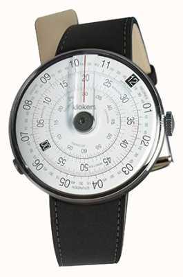 Klokers Klok 01 negro reloj cabeza estera correa doble negro KLOK-01-D2+KLINK-02-380C2