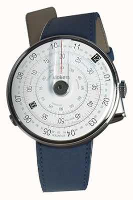 Klokers Correa de reloj Klok 01 negro índigo azul doble correa KLOK-01-D2+KLINK-02-380C3