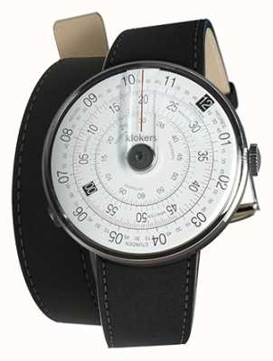 Klokers Klok 01 negro reloj cabeza estera negro 420mm doble correa KLOK-01-D2+KLINK-02-420C2