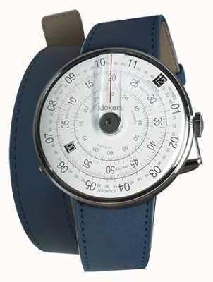 Klokers Klok 01 reloj negro cabeza índigo azul 420mm correa doble KLOK-01-D2+KLINK-02-420C3