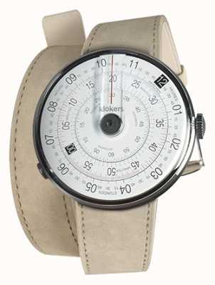 Klokers Klok 01 reloj negro cabeza gris alcantara 420mm correa doble KLOK-01-D2+KLINK-02-420C6