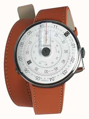 Klokers Klok 01 reloj negro cabeza naranja 420mm correa doble KLOK-01-D2+KLINK-02-420C8